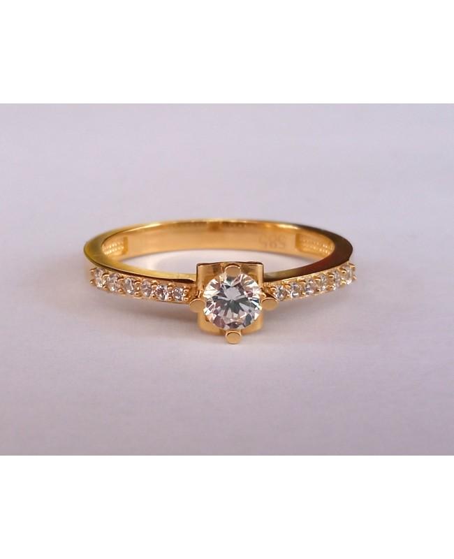 Inel din aur 14k Logodna bijuterii femei masura 14 Acasa