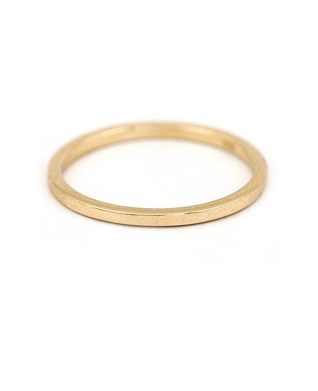 Inel de aur 14k bijuterii dama verigheta simpla R12 Acasa