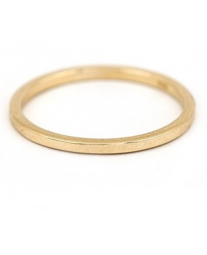Inel de aur 14k bijuterii dama verigheta simpla R16 Acasa