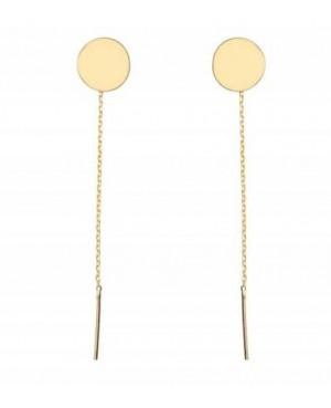 Cercei de aur 14K lungi simpli lantisor mobil dama BANUT 8 mm Cercei aur lungi