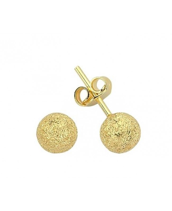 Cercei aur galben 14k dama cu surub Bilute diamantate 5 mm Cercei din aur dama