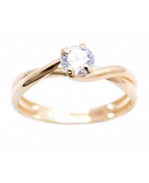 Inel din aur 14k Logodna impletit bijuterii femei masura 14 Acasa