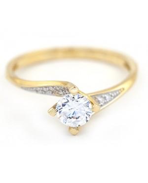 Inel de logodna din aur galben 14K dama masura 13 Acasa