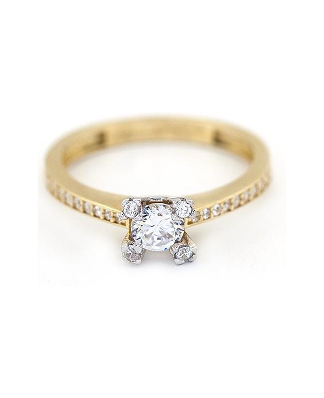 Inel din aur 14k Logodna piatra bijuterii dama masura 15 Acasa