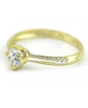 Inel de logodna din aur 14K cu pietre Zirconiu masura 9 Acasa