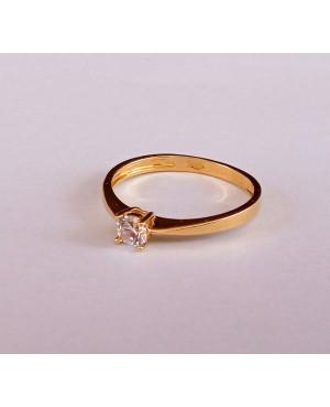 Inel din aur 14k Logodna Solitaire bijuterii dama masura 10 Acasa