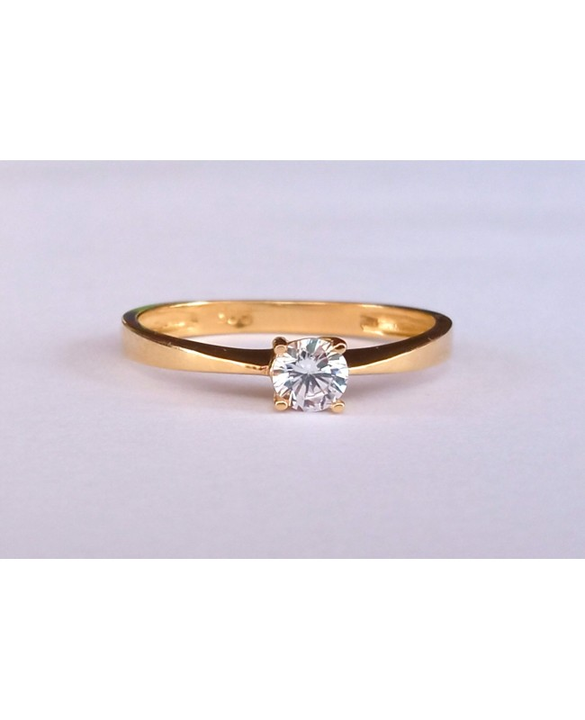 Inel din aur 14k Logodna Solitaire bijuterii dama masura 13 Acasa