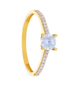 Inel din aur 14K de logodna dama cu pietre albe R11 Acasa