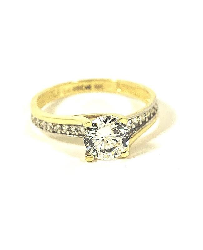 Inel din aur 14K de logodna dama cu pietre albe R10 Acasa
