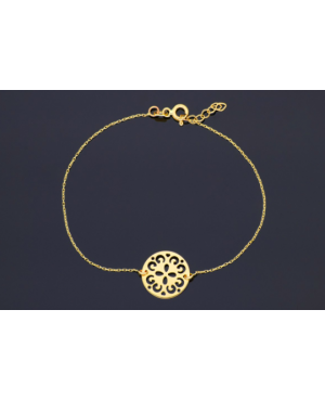 Bratara din aur 14K dama reglabila cu Floricica stilizata Acasa