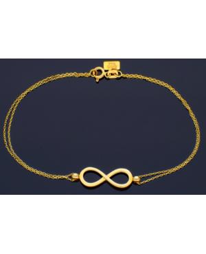 Bratara dama din aur galben 14k femei cadou cu Infinit Acasa