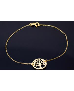 Bratara dama din aur galben 14k femei cadou Copacul vietii Acasa