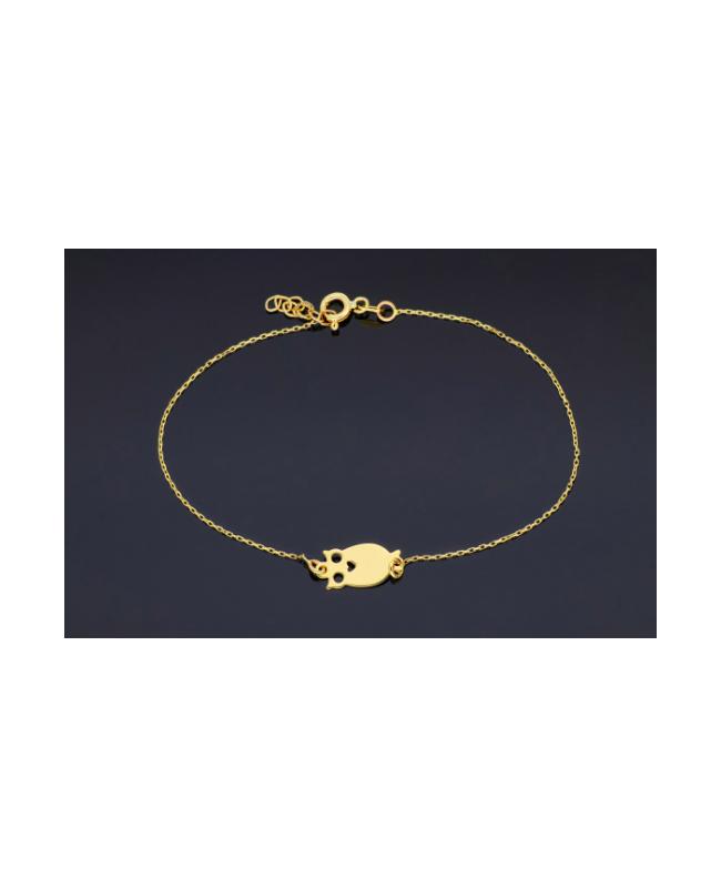 Bratara din aur 14K dama cadou reglabila Bufnita Acasa