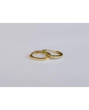 Cercei de aur 14K rotunzi fetite si dama Tortite cu striatii 11 mm Cercei din aur