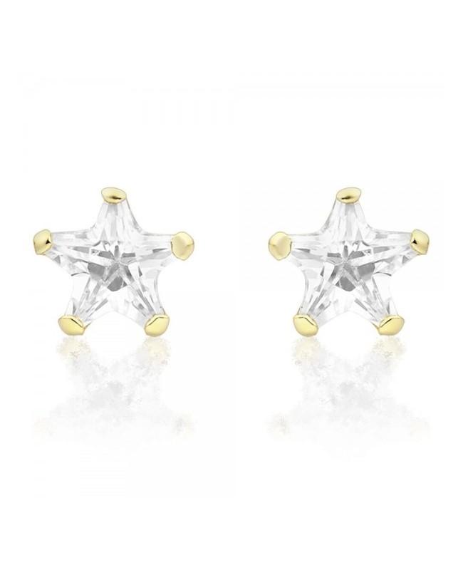 Cercei de aur 14k bebelusi fetite Stelute Zirconiu 5 mm Cercei din aur