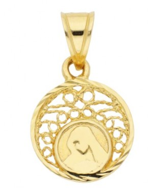 Pandantiv din aur galben ICONITA Maica Domnului Acasa