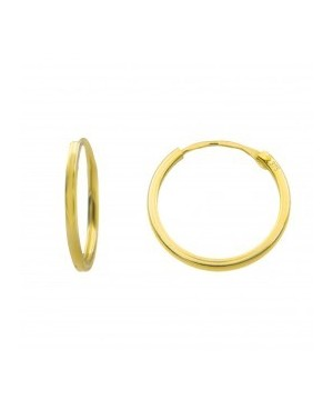 Cercei de aur 9K rotunzi fetite dama Tortite 13 mm Cercei din aur