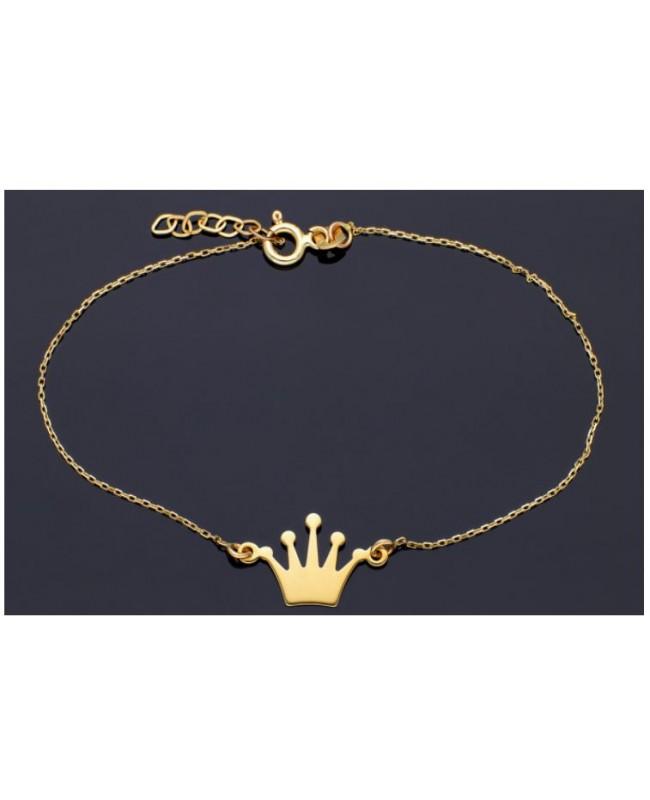 Bratara din aur 14K reglabila mobila dama Coronita Acasa