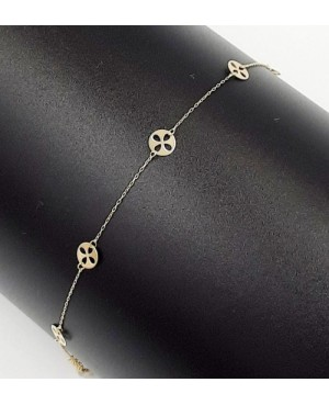 Bratara de aur 14K mobila Floare - Bratari de aur dama Acasa
