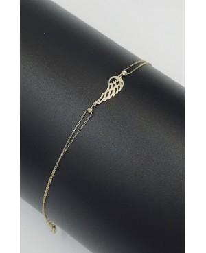 Bratara de aur 14K Aripa de Inger- Bratari de aur dama Acasa