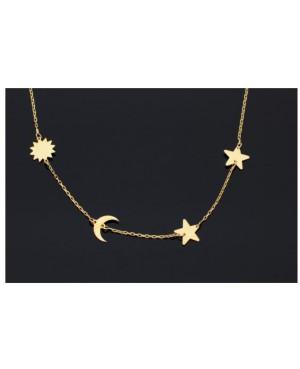 Lant din aur 14K Dama Pandantiv Soare, Luna, Stele Acasa