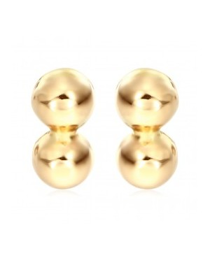 Cercei de aur galben cu surub bebelusi nou nascuti Bobite duble Cercei din aur