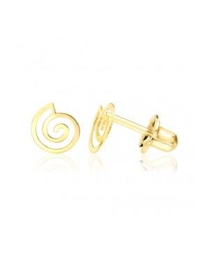Cercei de aur galben surub fetite copii Spirale Cercei din aur