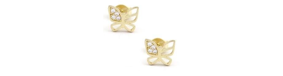 Modele noi superbe de cercei din aur alb sau galben pentru dama